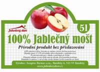 100% Jablečný mošt 5l bag in box